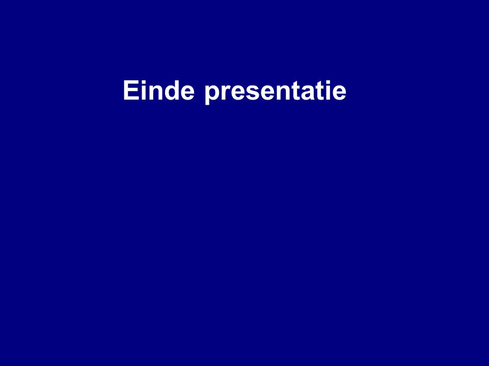 Einde presentatie Guidelines for End slide Title