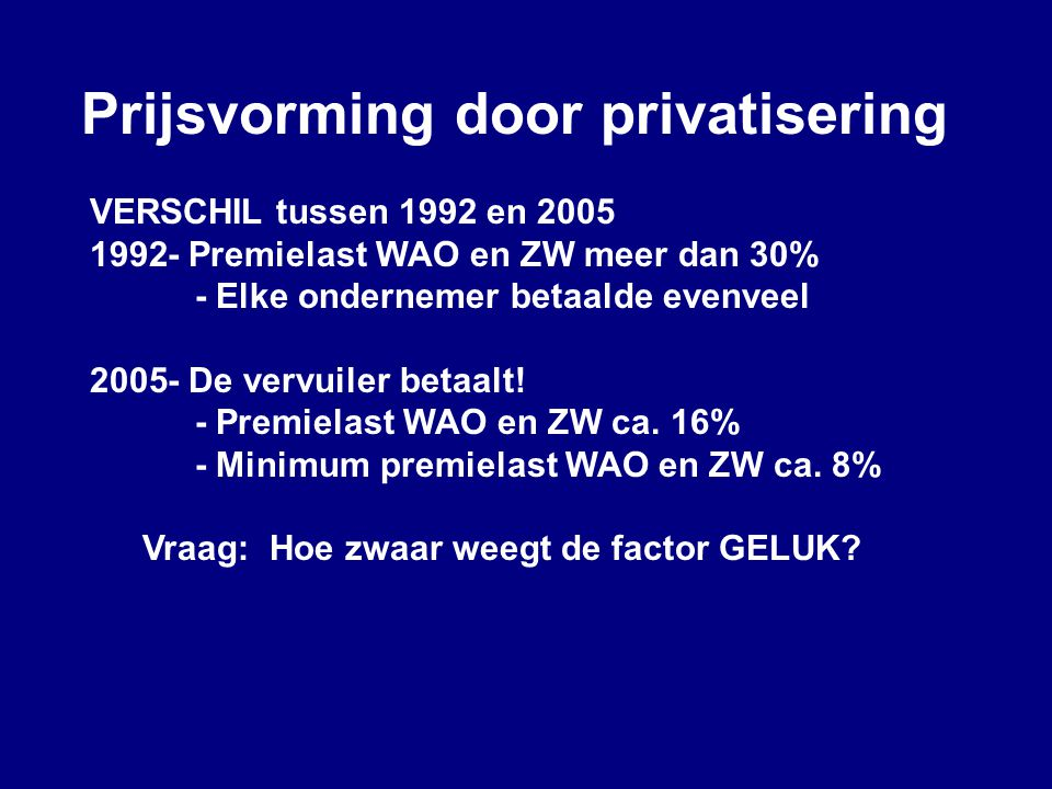 Prijsvorming door privatisering