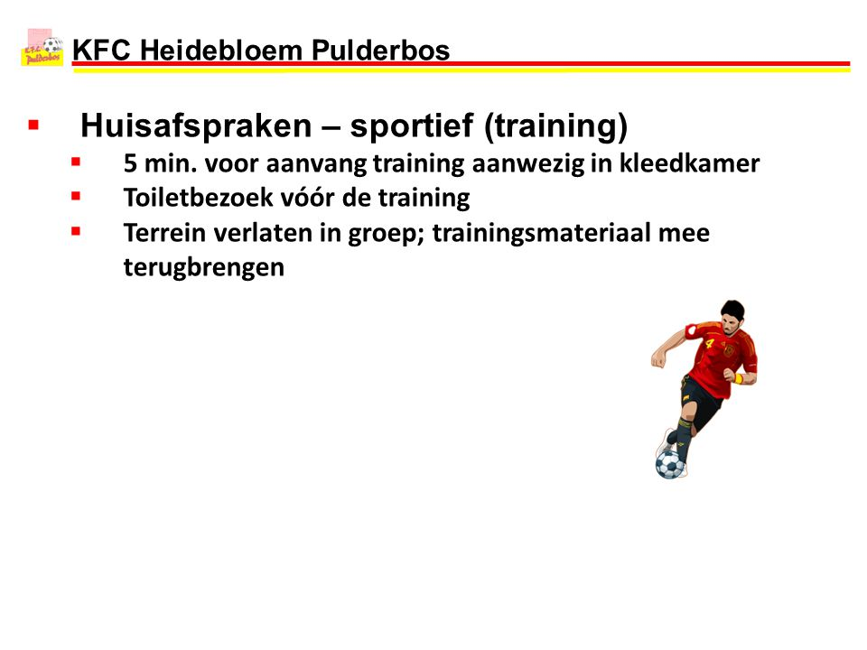 Huisafspraken – sportief (training)