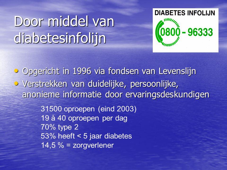 Door middel van diabetesinfolijn