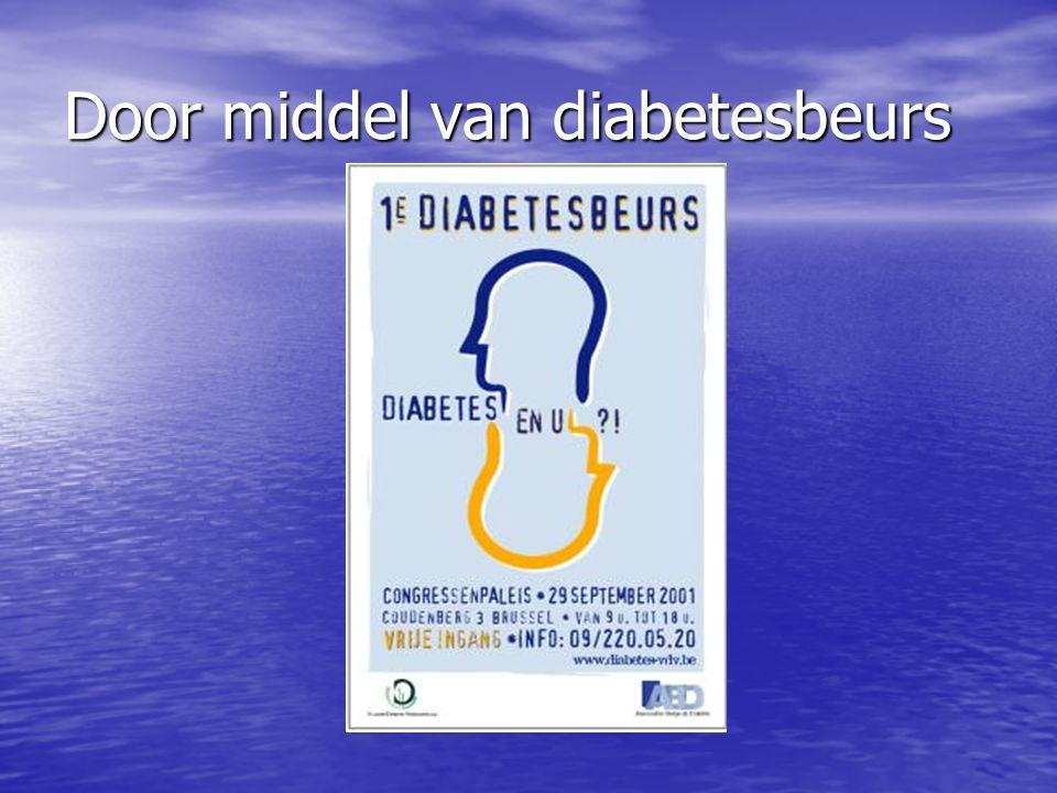 Door middel van diabetesbeurs