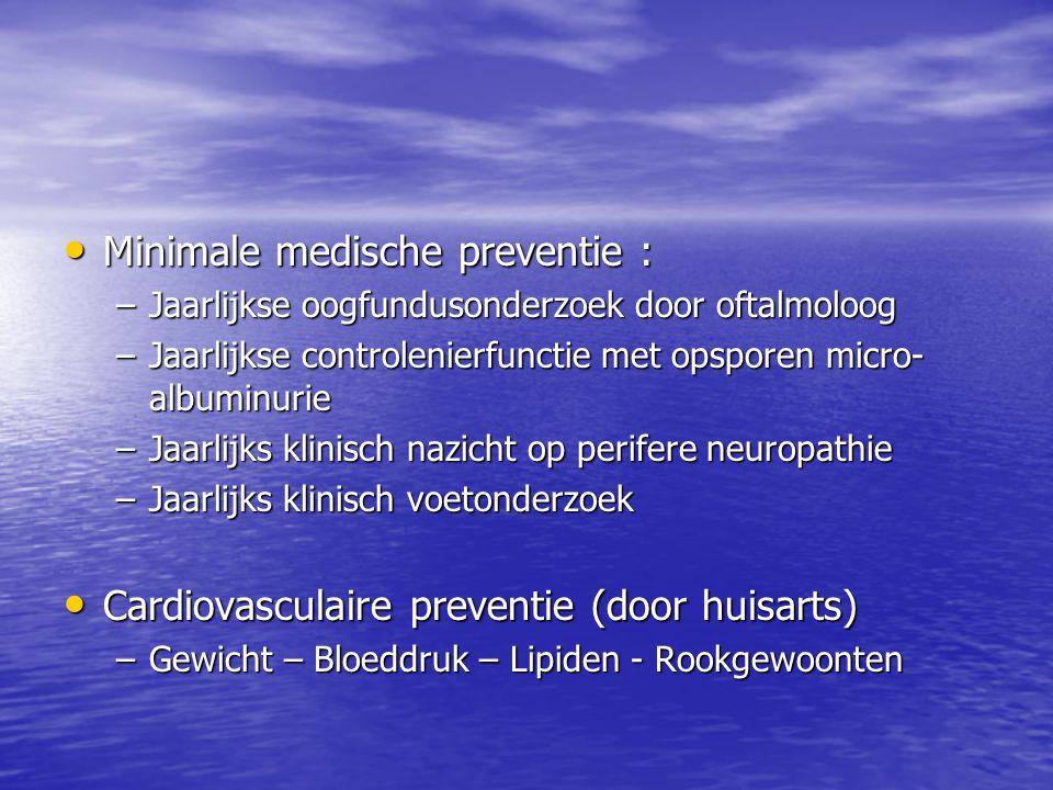 Minimale medische preventie :