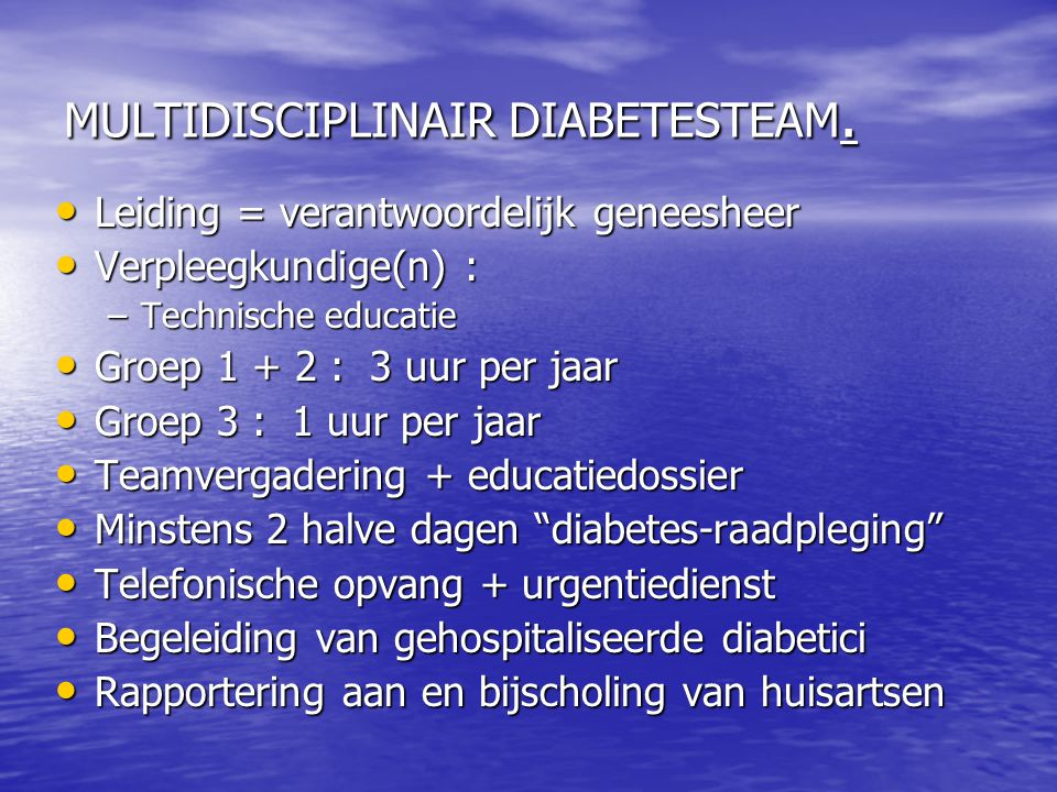 MULTIDISCIPLINAIR DIABETESTEAM.