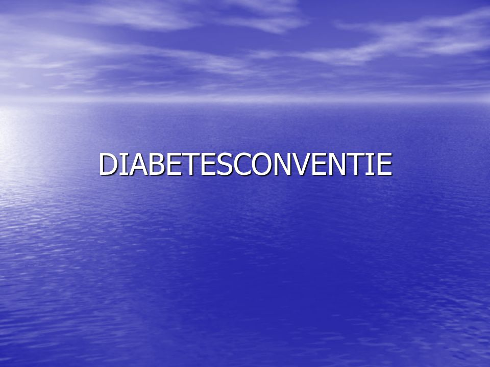 DIABETESCONVENTIE