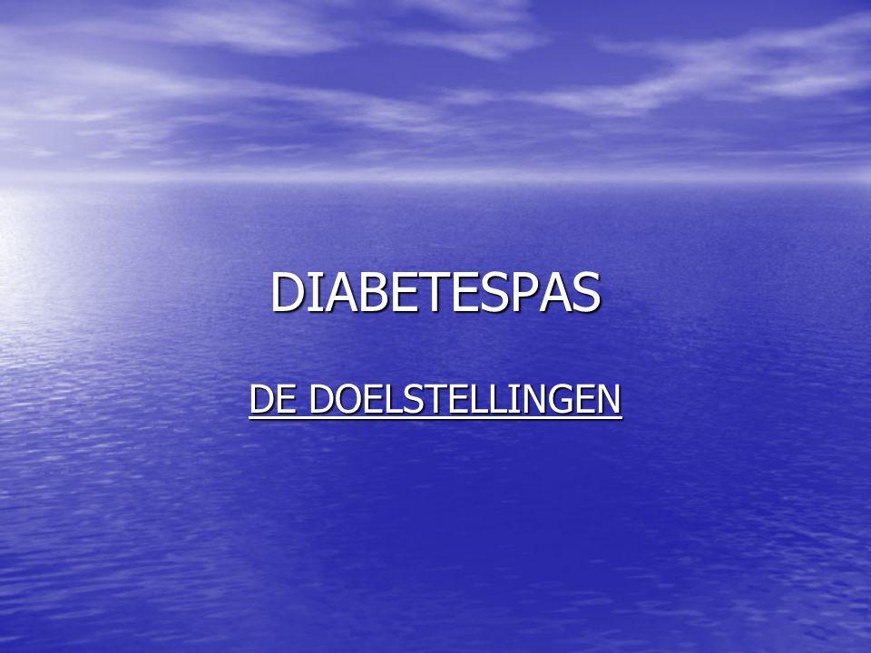 DIABETESPAS DE DOELSTELLINGEN