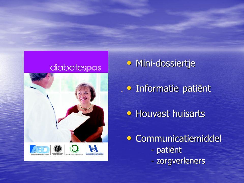Mini-dossiertje Informatie patiënt Houvast huisarts Communicatiemiddel