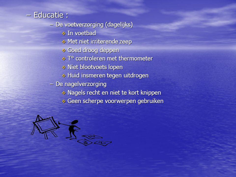 Educatie : De voetverzorging (dagelijks) In voetbad