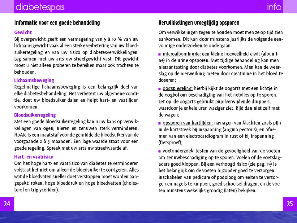 blz. 24-27 : informatie voor de patiënt