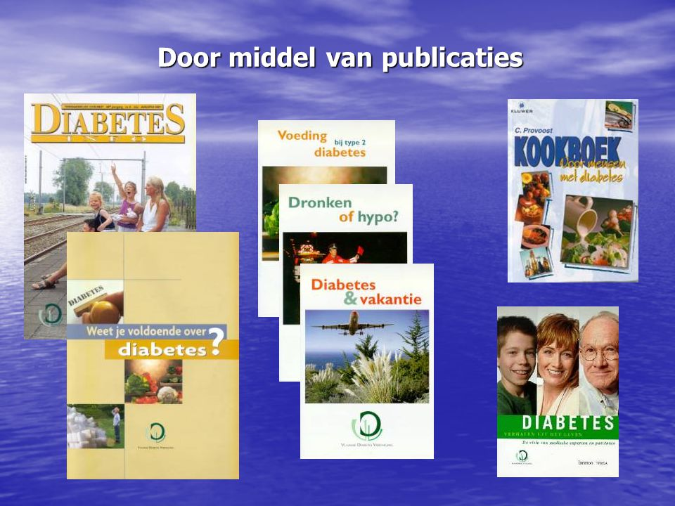 Door middel van publicaties