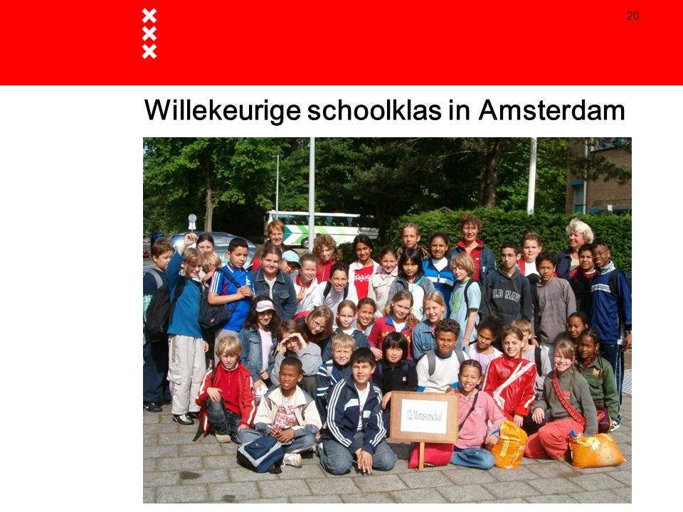 Willekeurige schoolklas in Amsterdam