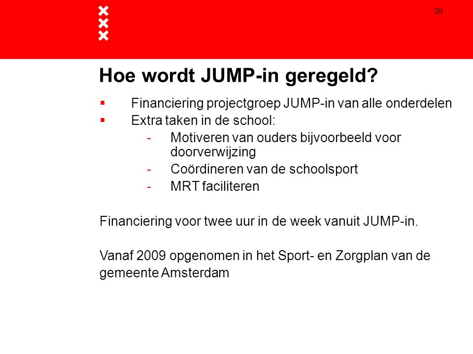 Hoe wordt JUMP-in geregeld