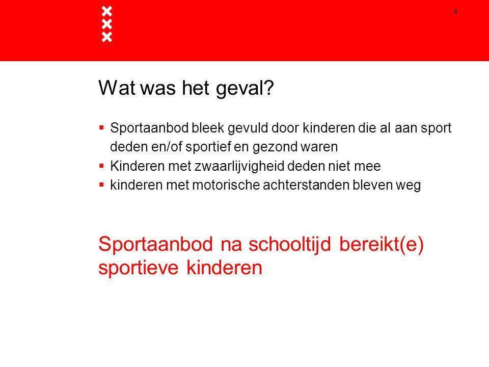 Sportaanbod na schooltijd bereikt(e) sportieve kinderen