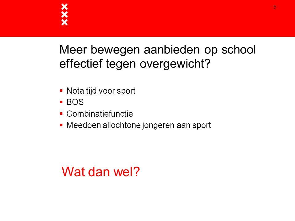 Meer bewegen aanbieden op school effectief tegen overgewicht