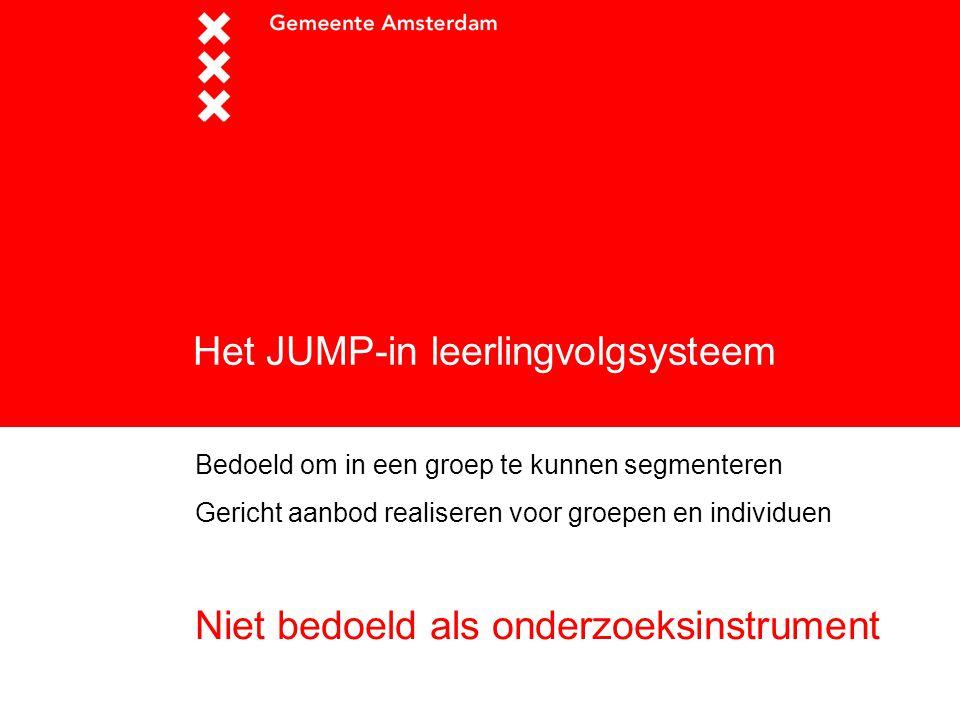 Het JUMP-in leerlingvolgsysteem