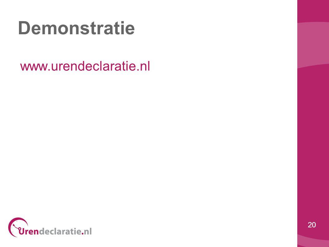 Demonstratie www.urendeclaratie.nl