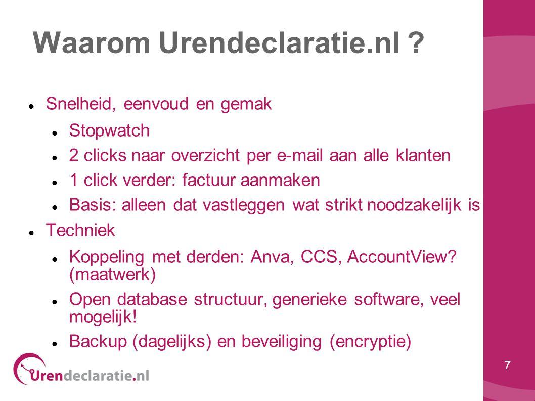 Waarom Urendeclaratie.nl