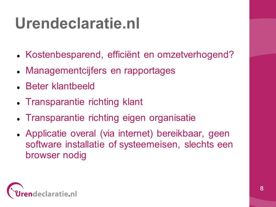 Urendeclaratie.nl Kostenbesparend, efficiënt en omzetverhogend
