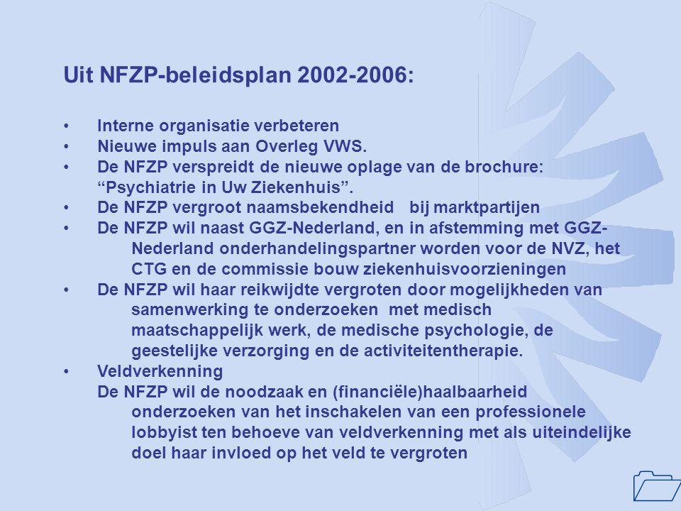 Uit NFZP-beleidsplan 2002-2006: