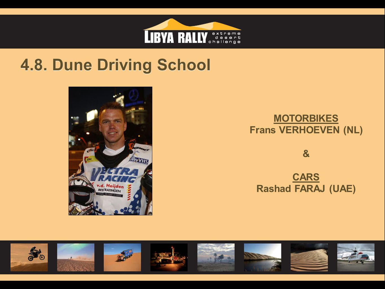 4.8. Dune Driving School MOTORBIKES Frans VERHOEVEN (NL) & CARS