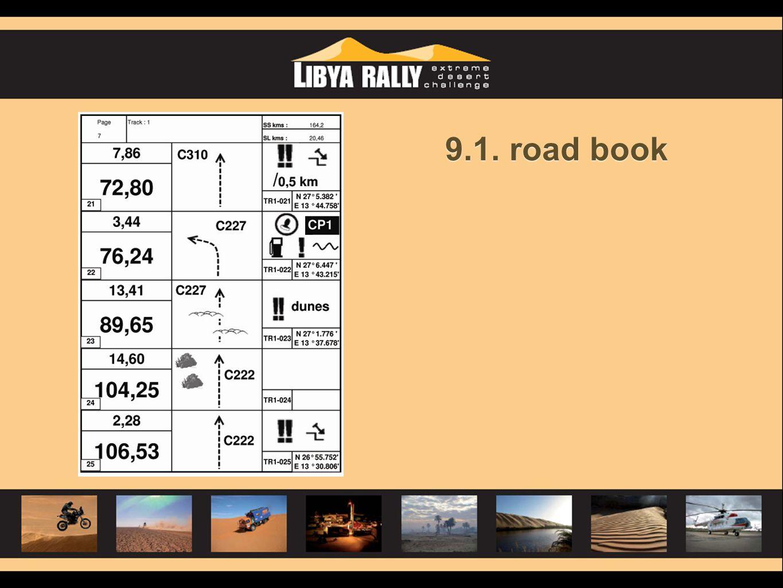 9.1. road book