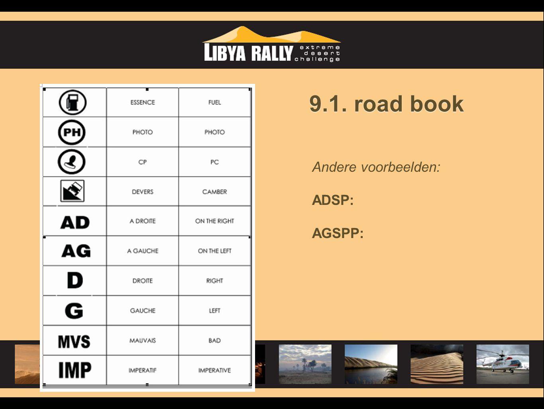 9.1. road book Andere voorbeelden: ADSP: AGSPP: