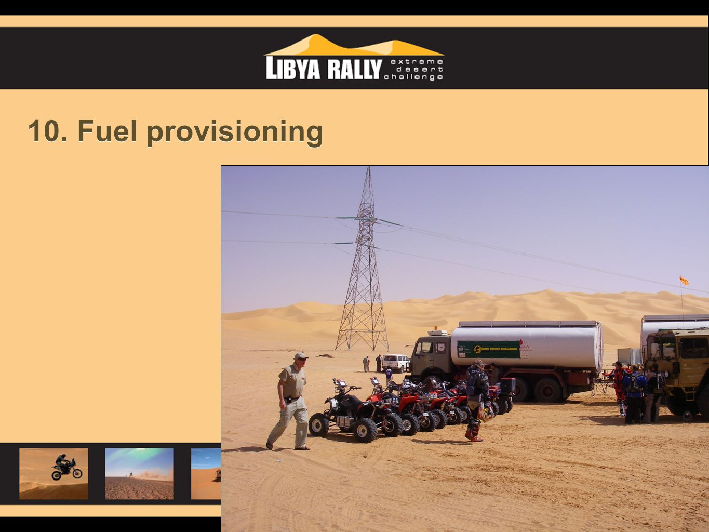 10. Fuel provisioning