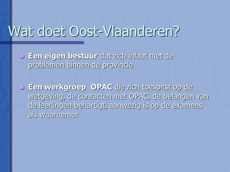 Wat doet Oost-Vlaanderen