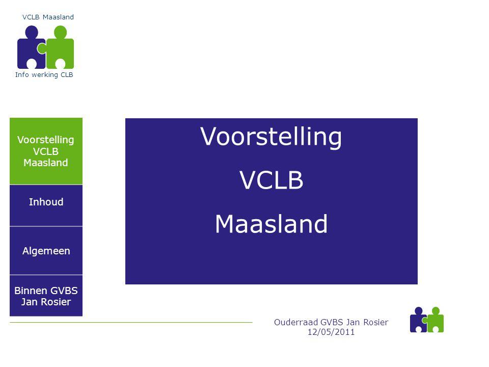 Voorstelling VCLB Maasland Voorstelling VCLB Maasland Inhoud Algemeen