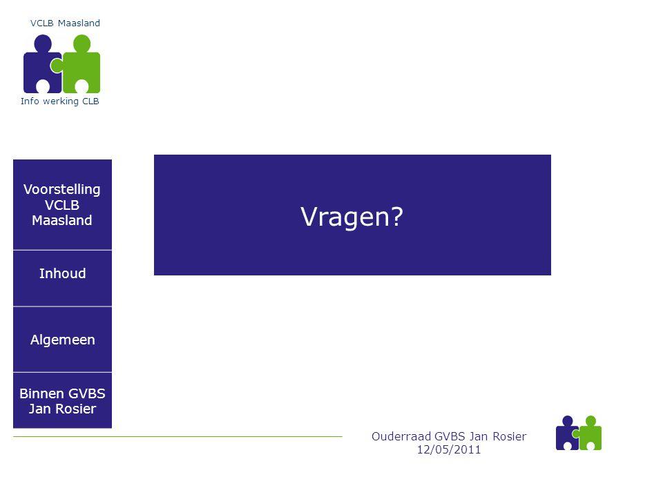 Vragen Voorstelling VCLB Maasland Inhoud Algemeen