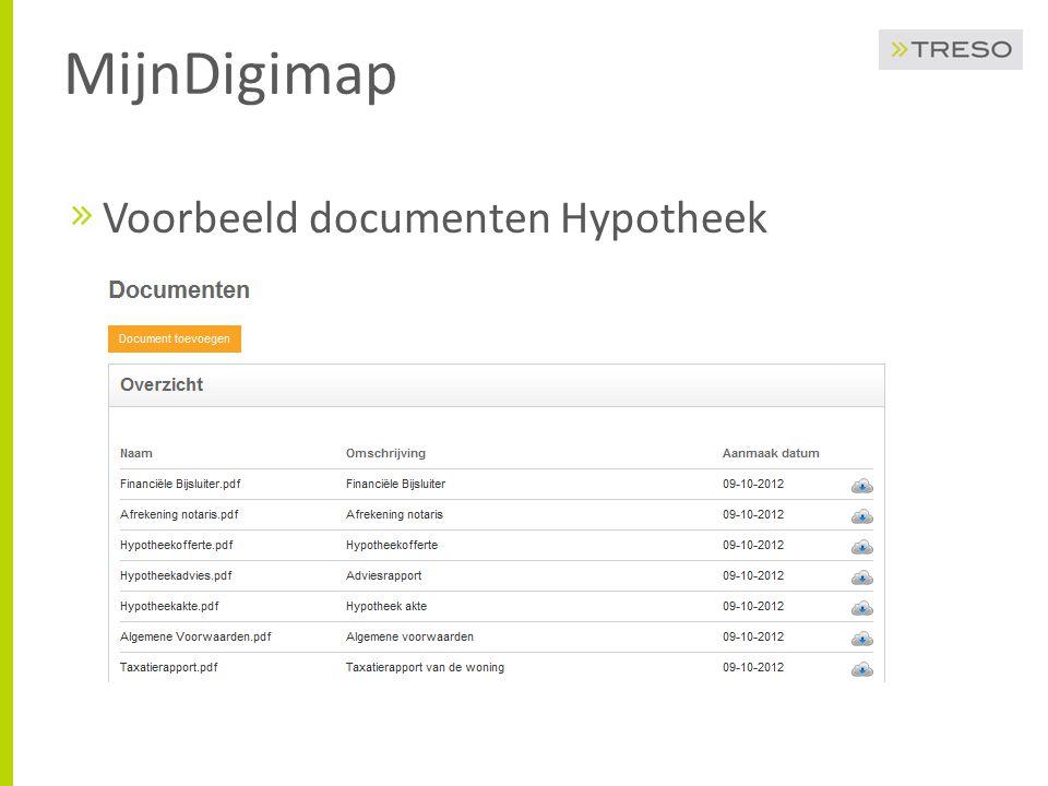 MijnDigimap Voorbeeld documenten Hypotheek