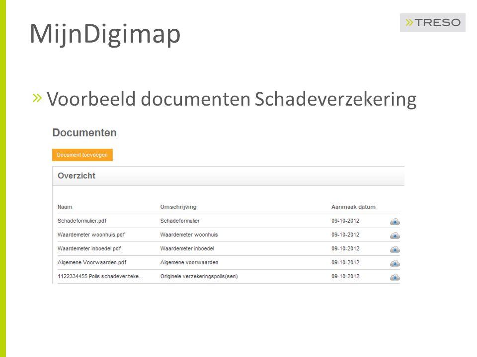 MijnDigimap Voorbeeld documenten Schadeverzekering