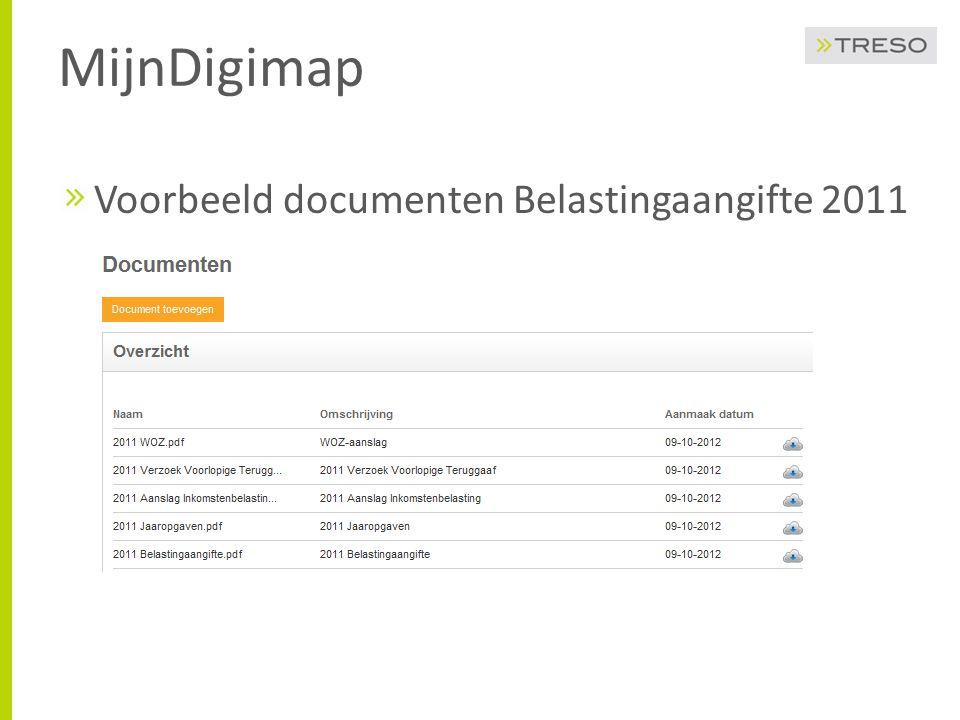 MijnDigimap Voorbeeld documenten Belastingaangifte 2011