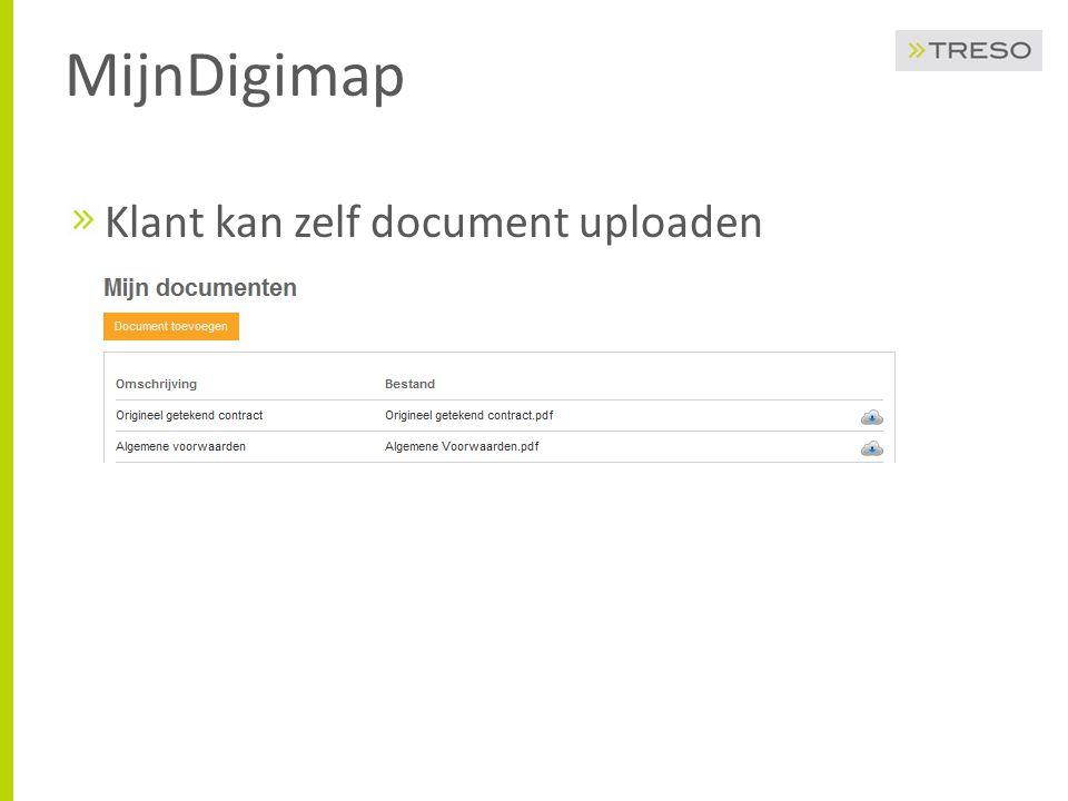 MijnDigimap Klant kan zelf document uploaden