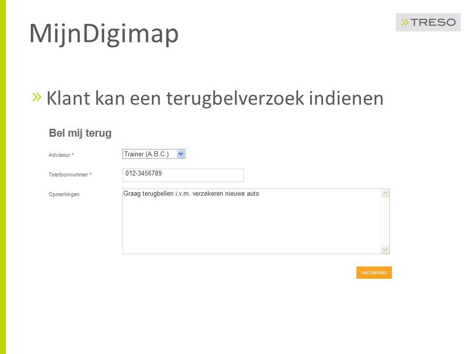 MijnDigimap Klant kan een terugbelverzoek indienen