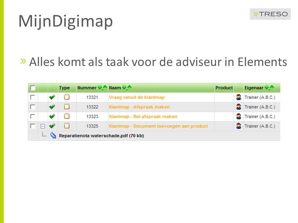 MijnDigimap Alles komt als taak voor de adviseur in Elements