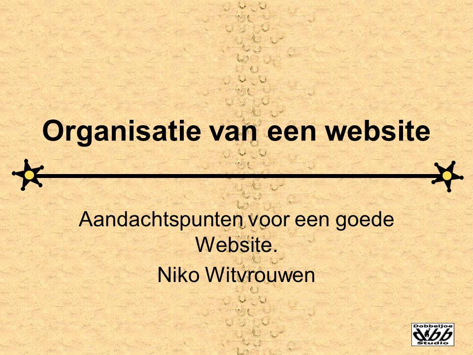 Organisatie van een website