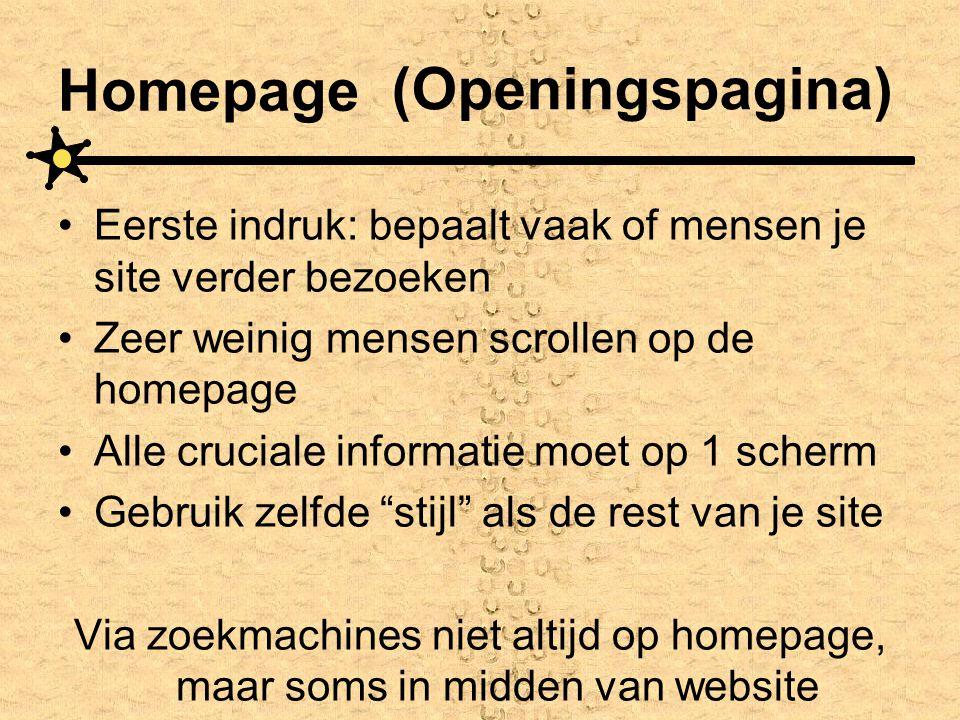 Homepage (Openingspagina)