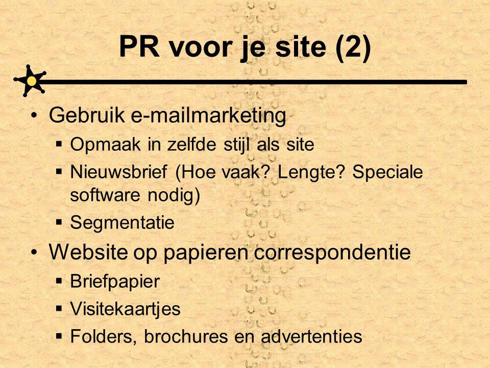 PR voor je site (2) Gebruik e-mailmarketing