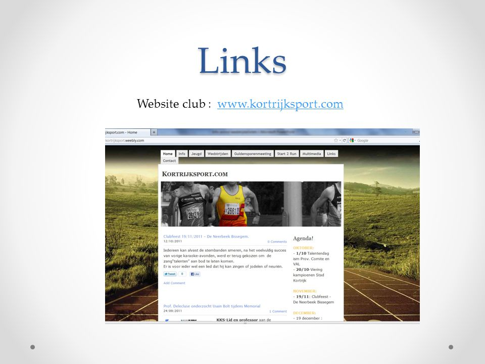 Links Website club :