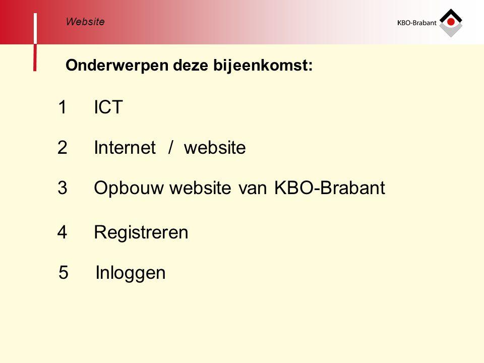 3 Opbouw website van KBO-Brabant