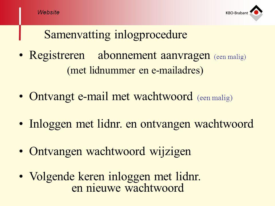 Samenvatting inlogprocedure