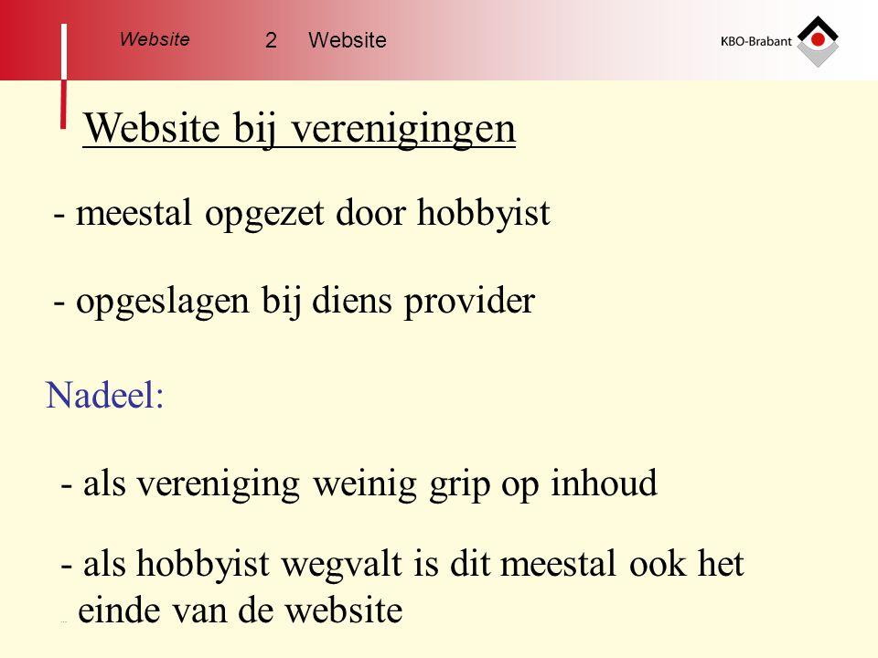 Website bij verenigingen