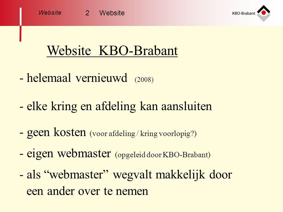 Website KBO-Brabant - helemaal vernieuwd (2008)
