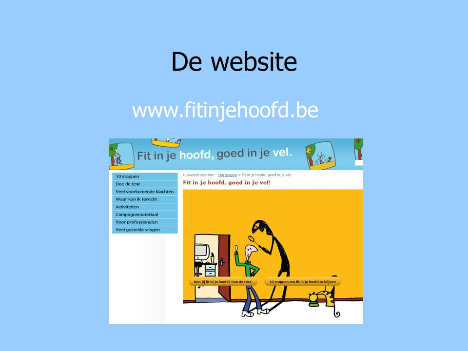 De website www.fitinjehoofd.be