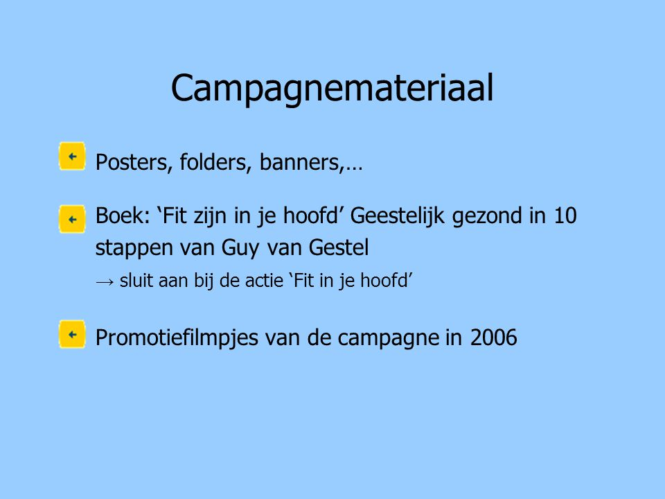 Campagnemateriaal Posters, folders, banners,…