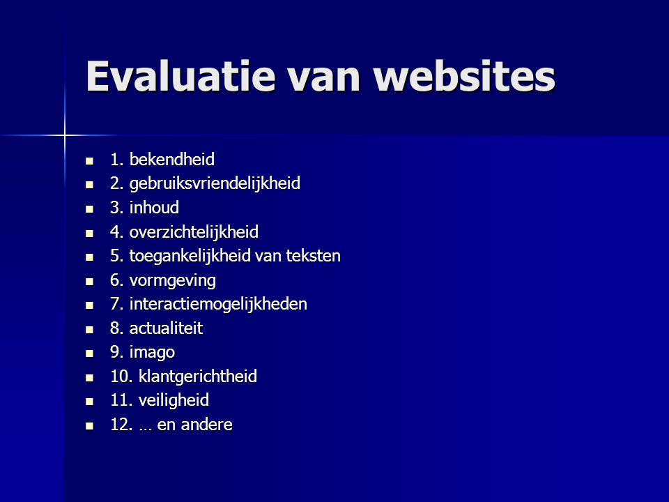 Evaluatie van websites