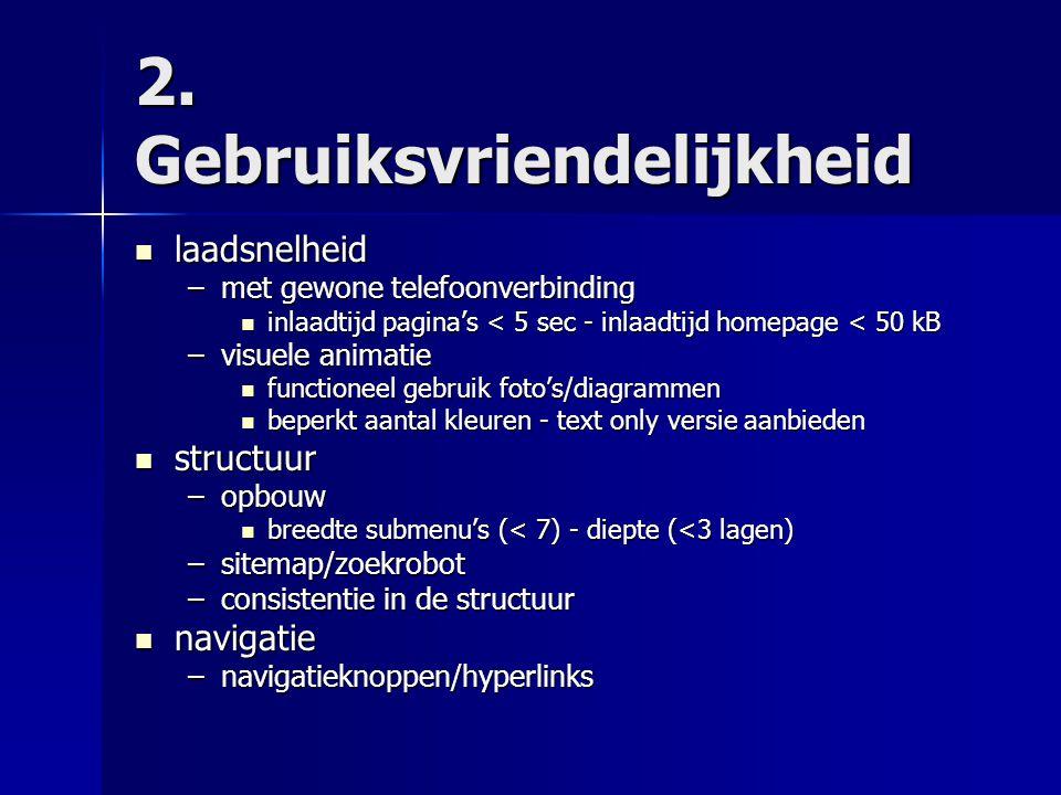 2. Gebruiksvriendelijkheid