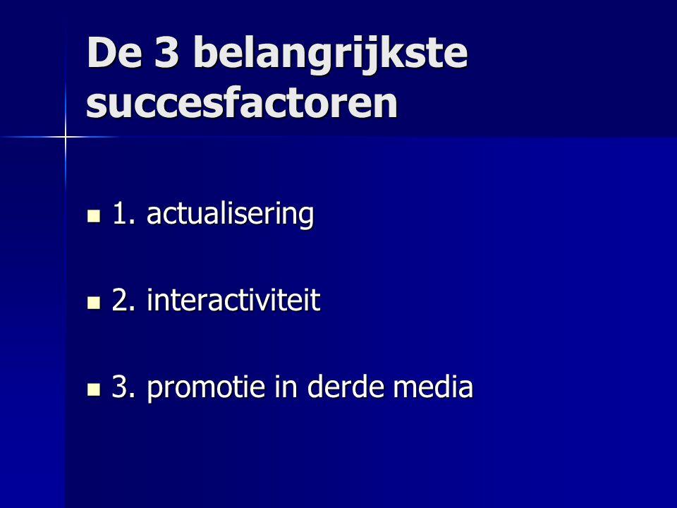 De 3 belangrijkste succesfactoren