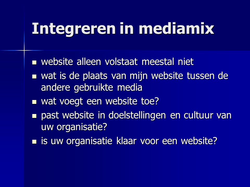 Integreren in mediamix