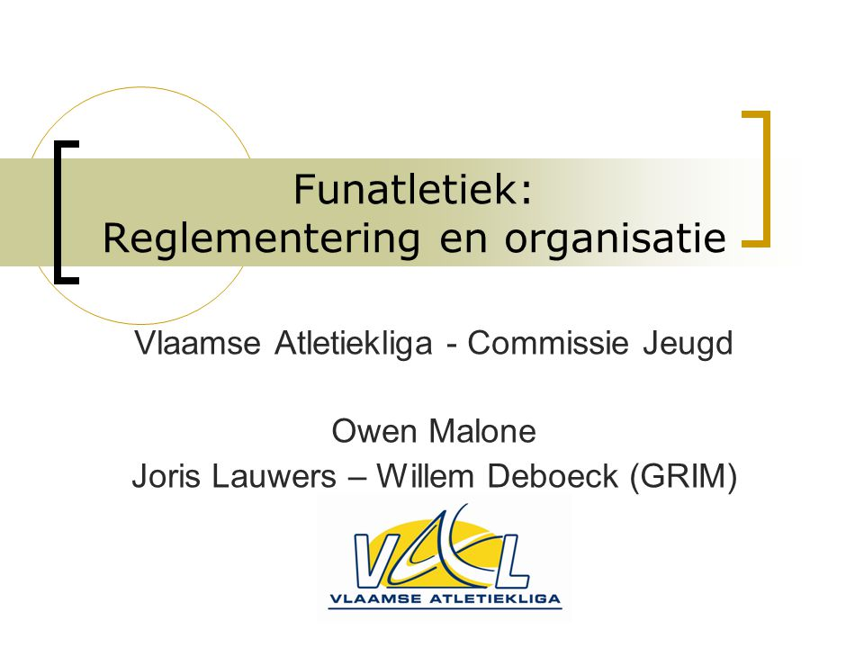 Funatletiek: Reglementering en organisatie